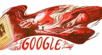 Google Celebrates 60th Anniversary of 'The Land Of Crimson Clouds' Publication with Doodle